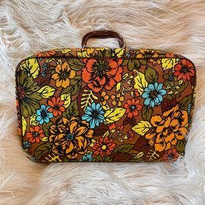 Vintage 1960's Bantam Floral Travel Bag Suitcase